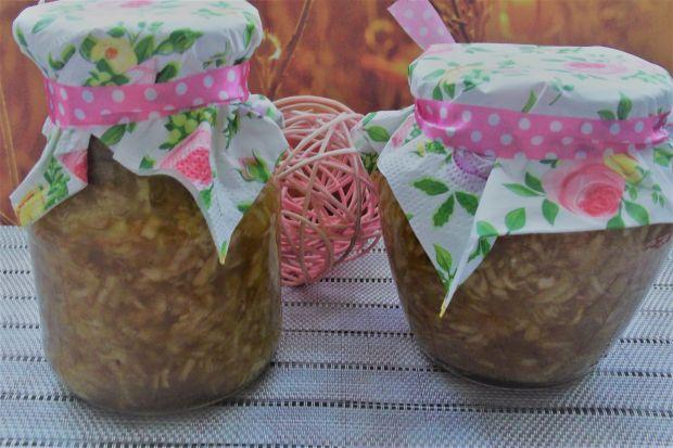 Szarlotkowe jabłka z cukinią do słoików