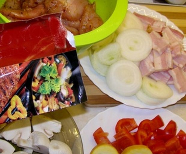 Szaszłyki drobiowe z warzywami