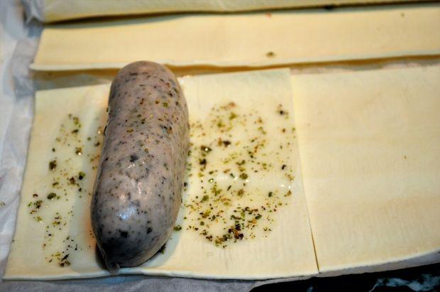 Szaszłyki z białej kiełbasy