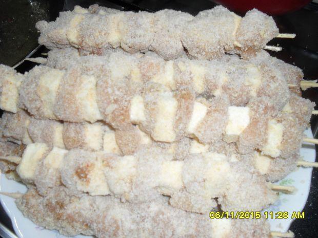 szaszłyki z fiteta z kurczaka i serka topionego