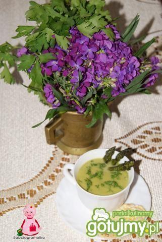 Szparagowa z waflami :