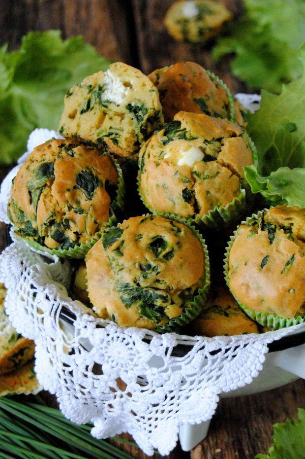 Szpinakowe, wytrawne muffinki