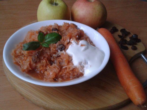 Szybki deser jabłkowo  - marchewkowy