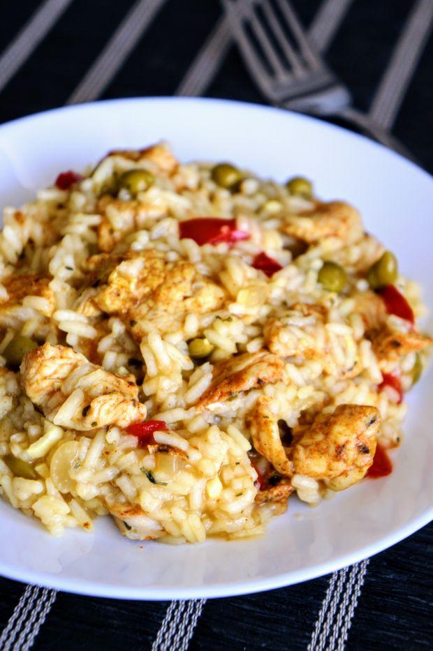 Szybki ryż z kurczakiem