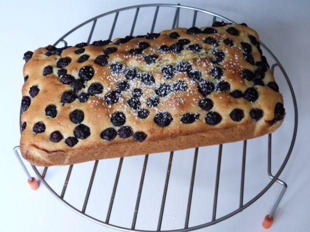 Szybkie ciasto z borówkami