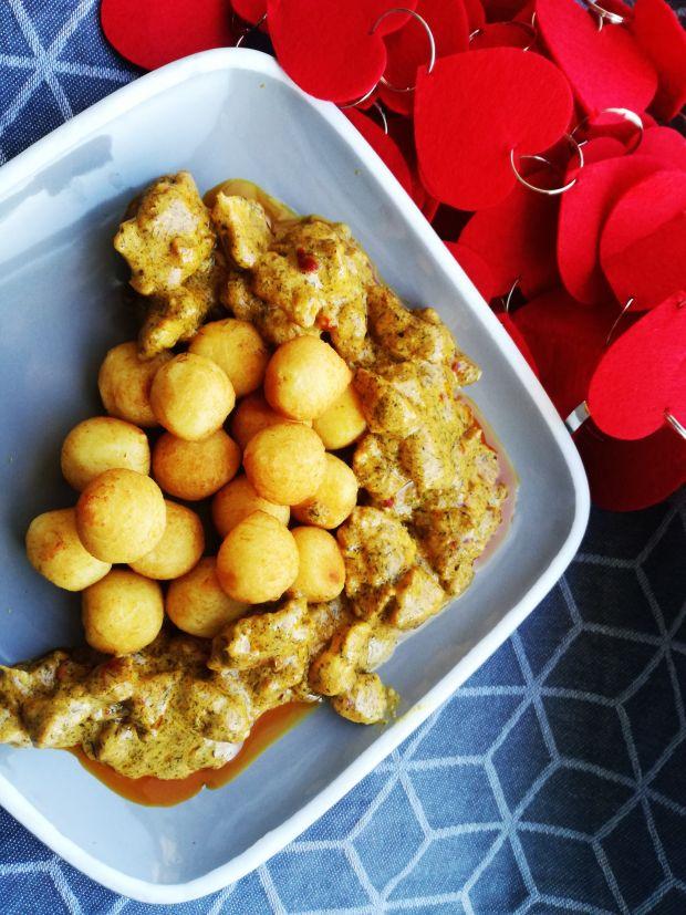 Szybkie Curry z kurczakiem na walentynki