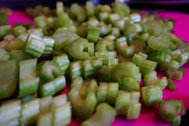 Szynka duszona w warzywach