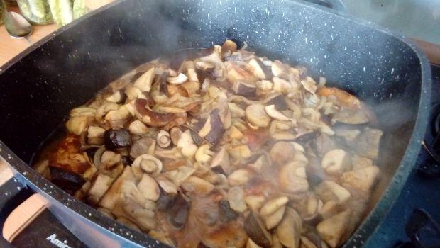 Szynka w sosie grzybowym