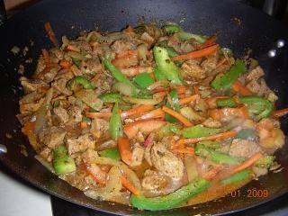 Szynka w warzywach na sposób chiński ;-)