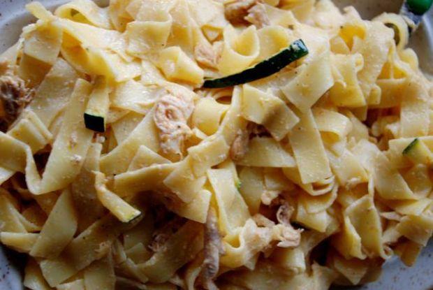 tagiatelle grzybowo-ziolowe z kurczakiem