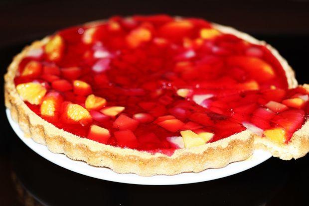 Tarta biszkoptowa z owocami i galaretką