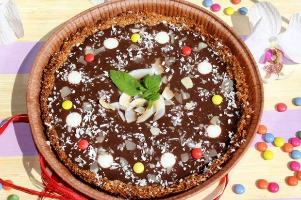 Tarta kokosowo-migdałowa z kremem czekoladowym