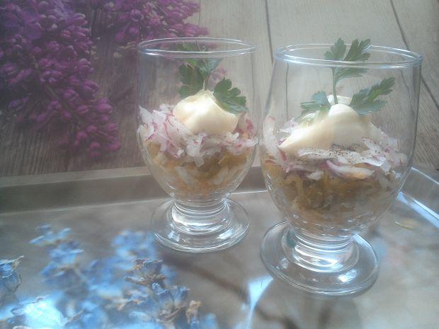 Tarta sałatka z rzodkiewką
