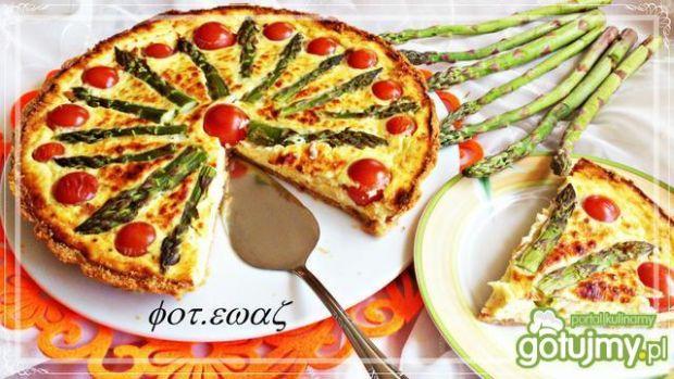 Tarta szparagowo-pomidorowa - tarta ze szparagami i pomidorkami chery ...