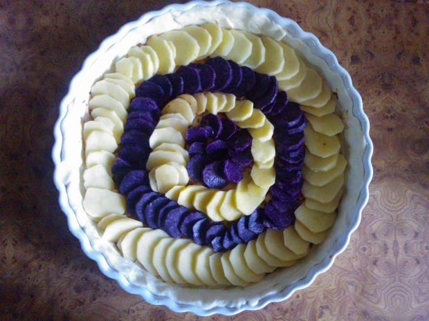 Tarta z fioletowymi ziemniakami