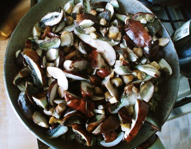 Tarta z grzybami i boczkiem