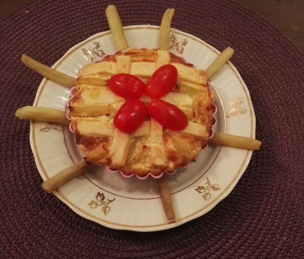 Tartaletki z fasolką szparagową i botwinką