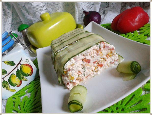 Terrina twarożkowa z kukurydzą i papryką