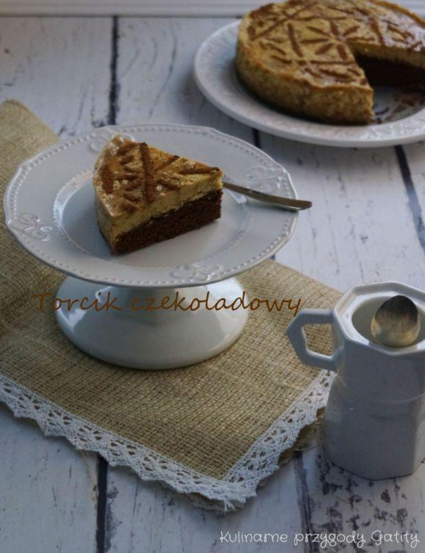 Torcik czekoladowy z kawowym kremem