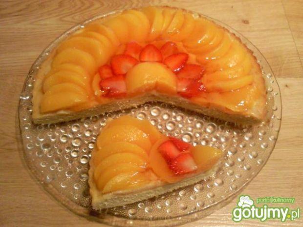 Torcik owocowy z galaretką
