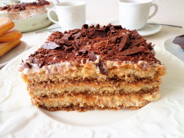 Torcik tiramisu z ricotty i czekolady