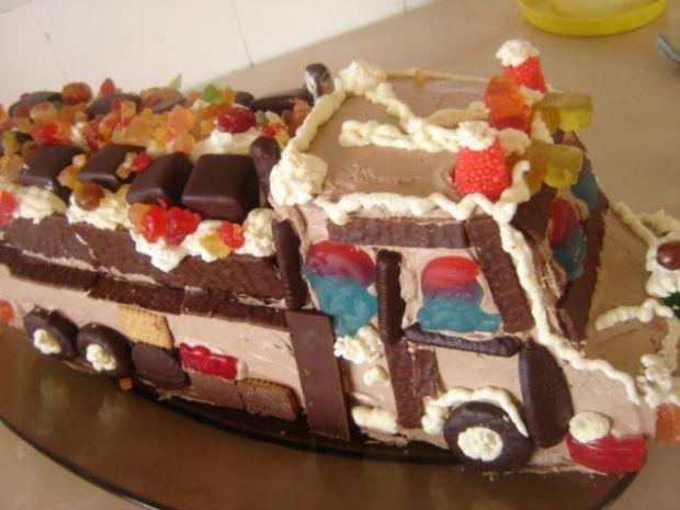 Tort - autko ciężarowe - mojego synka