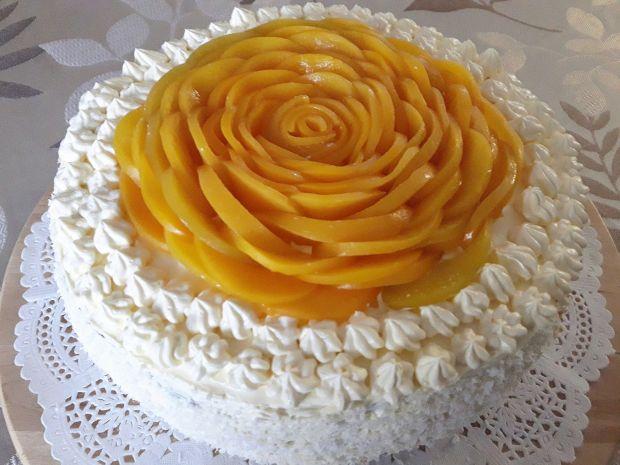 Tort -  Brzoskwiniowa Róża