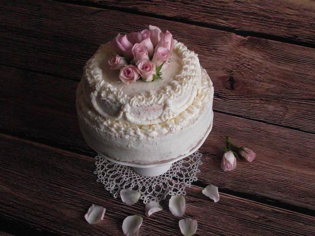Przepis Tort Cappuccino Z Zywymi Kwiatami Przepis Gotujmy Pl