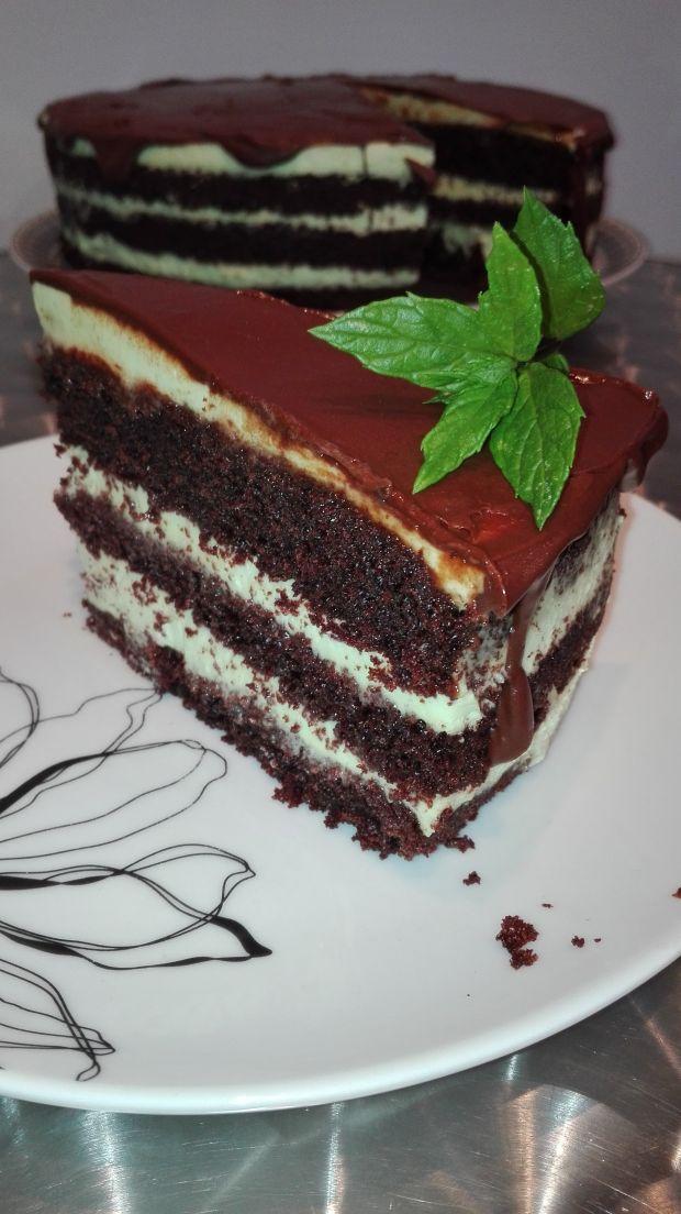 """Tort czekoladowo-miętowy """"After Eight"""""""