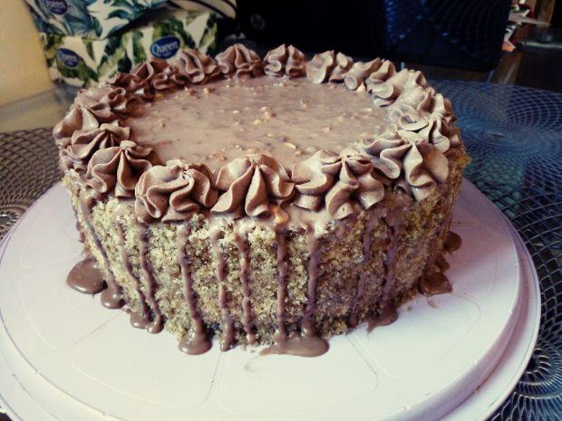 Tort ferrero orzechowo - czekoladowy