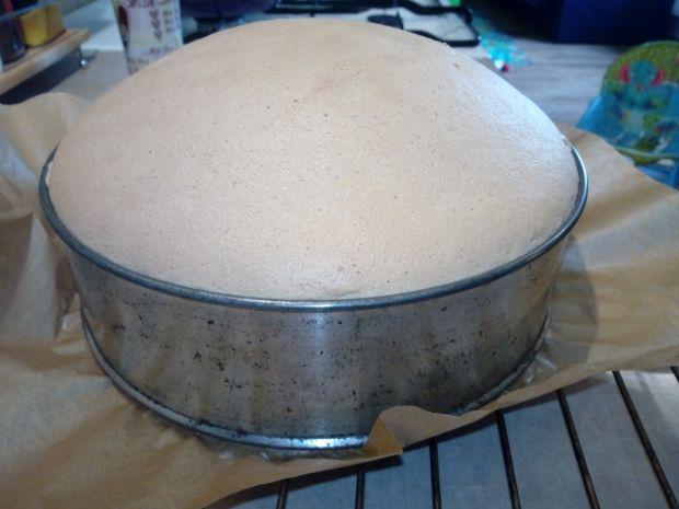 Tort jagodowo - kokosowy