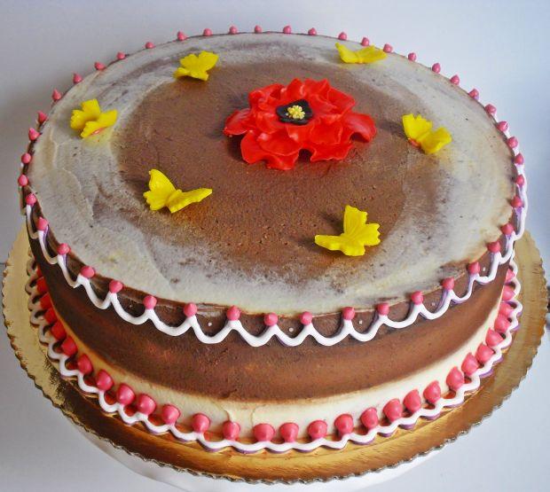 Tort kakaowo- waniliowy