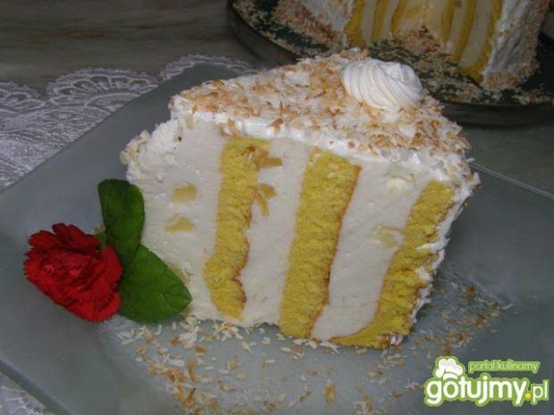 Tort ślimak  z masą z serka mascarpone