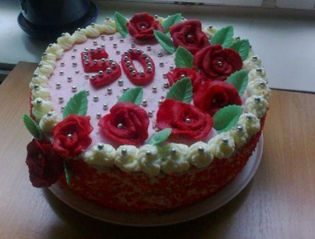 Tort urodzinowy 50 - tka