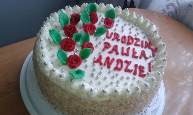 Tort urodzinowy dla syna i synowej
