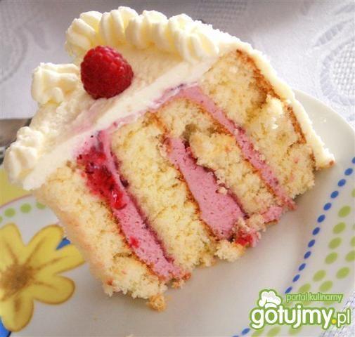Tort zawijany malinowy