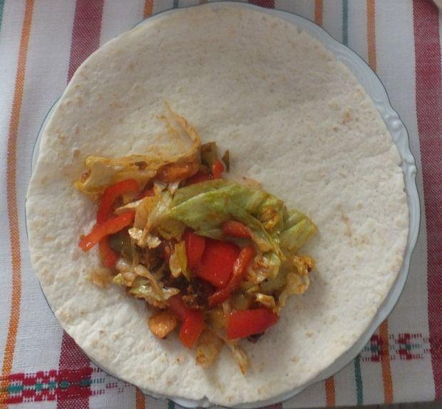 Tortilla domowa z kurczakiem