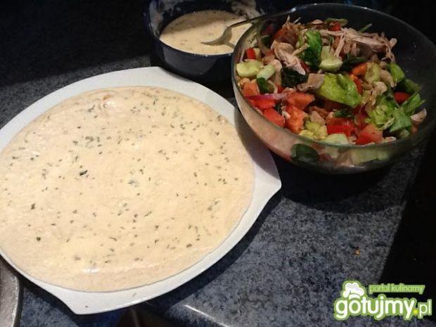 Tortilla z kurczakiem i warzywami 2