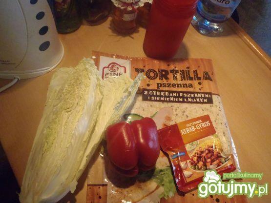 Tortilla z kurczakiem wg szpileczki