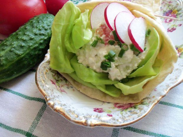 Tortilla z warzywnym twarożkiem