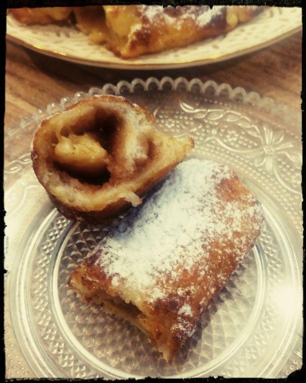 Tosty francuskie rolowane na słodko