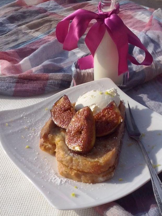 Tosty francuskie z karmelizowaną figą
