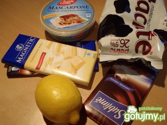 Trufle z mascarpone i czekoladą