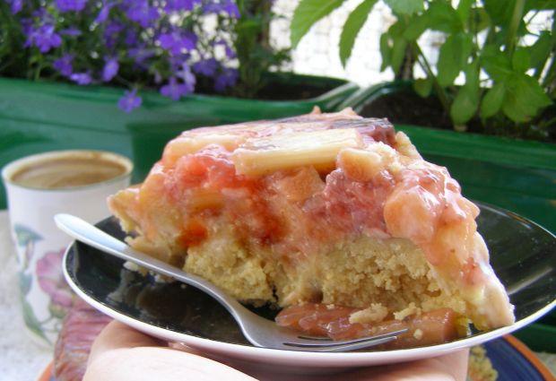 Truskawkowo-rabarabarowe kruche ciasto