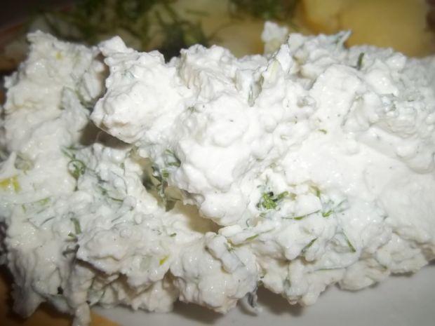 Twaróg z porem i koperkiem (do ziemniaków)