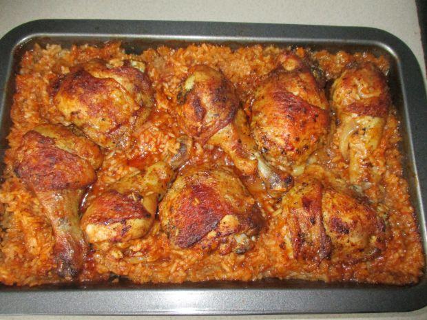 Udka kurczaka zapiekane z ryżem