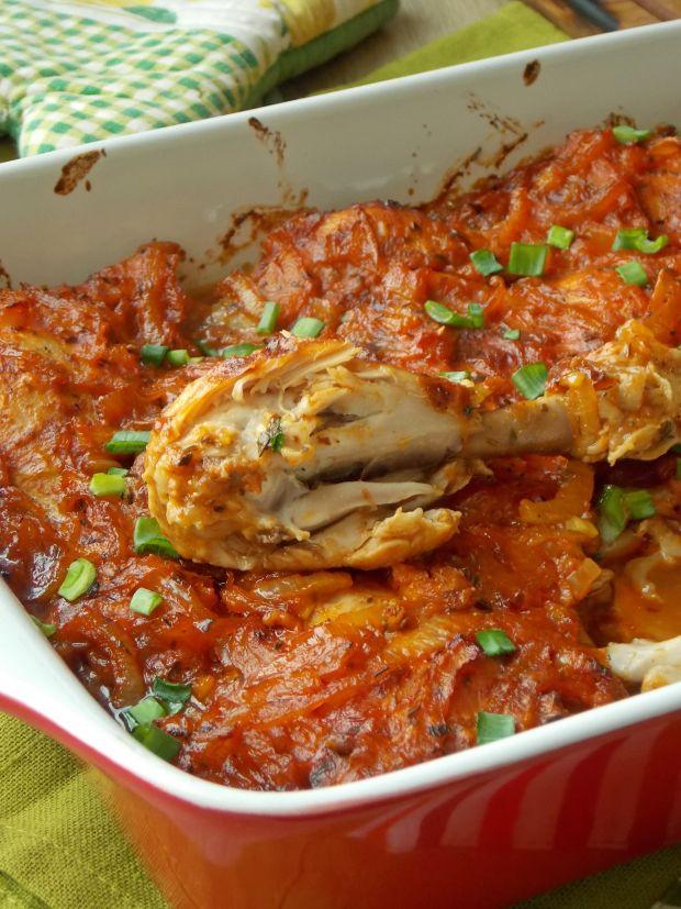 Udka pieczone w sosie pomidorowym