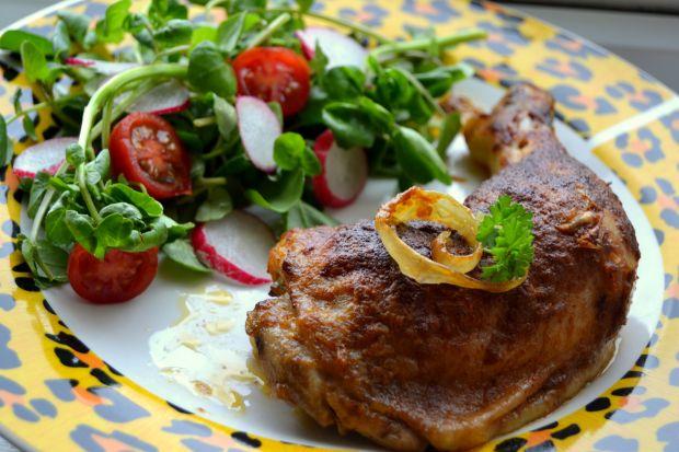 Udka z kurczaka pieczone z chrzanem