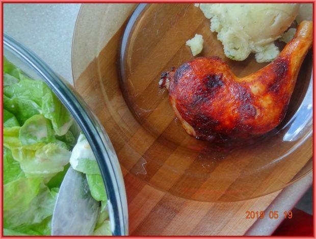Udka z kurczaka w marynacie z sosem słodkim chili