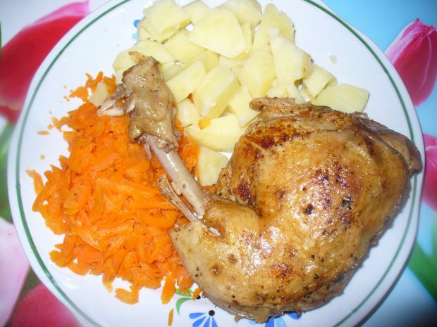 Udko z kurczaka gotowane i opiekane